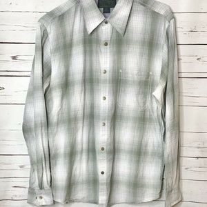 Filson Cotton Button Down Shirt Plaid Size Large